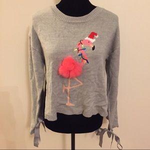 Christmas Sweater Pink Flamingo 3D Size XS